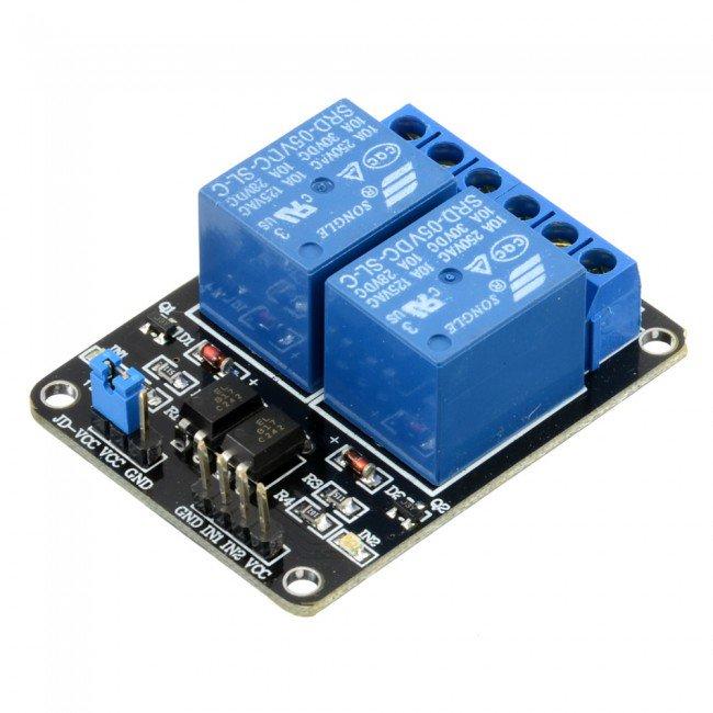Arduino用5V10A2チャンネルリレーモジュールシールド-PrayogIndia