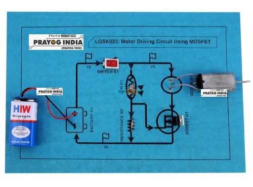 MOSFET and DC motor driving circuit Online