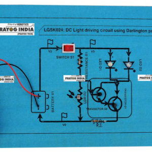 DC light driving circuit using Darlington pair Online