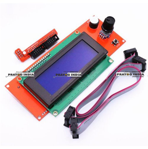 Buy 3D Accessories for School and electronics Projects, Reprap RAMPS1.4 2004 LCD display controller with adapter Mendel, Prusa 3D Printer Online