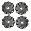 Aluminium Mecanum Bearing Rollers Wheels Set (2-Left & 2_Right) -4 pieces ww.prayogindia.in