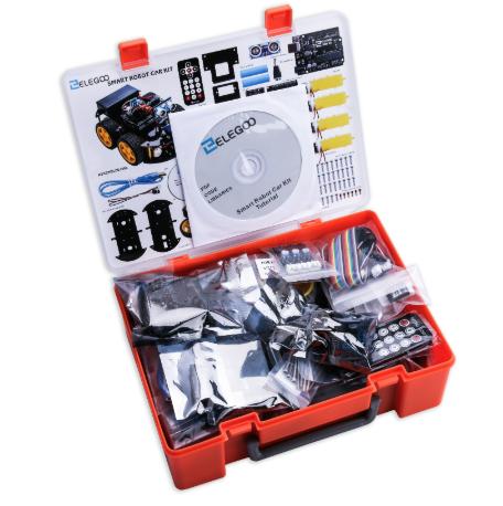 24in1 Elegoo UNO Smart Robot Car Kit with Rechargeable Batteries