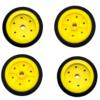 EasyMech 100mm Modified Heavy Duty(HD) Disc Wheel Yellow 3 ww.prayogindia.in