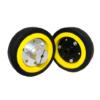 EasyMech 100mm Modified Heavy Duty(HD) Disc Wheel Yellow www.prayogindia.in